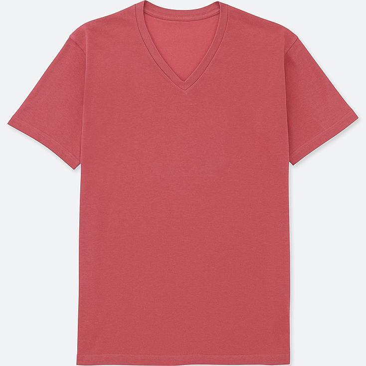 MEN PACKAGED DRY V-NECK SHORT-SLEEVE T-SHIRT, RED, large