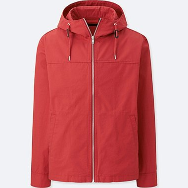 men cotton full zip parka