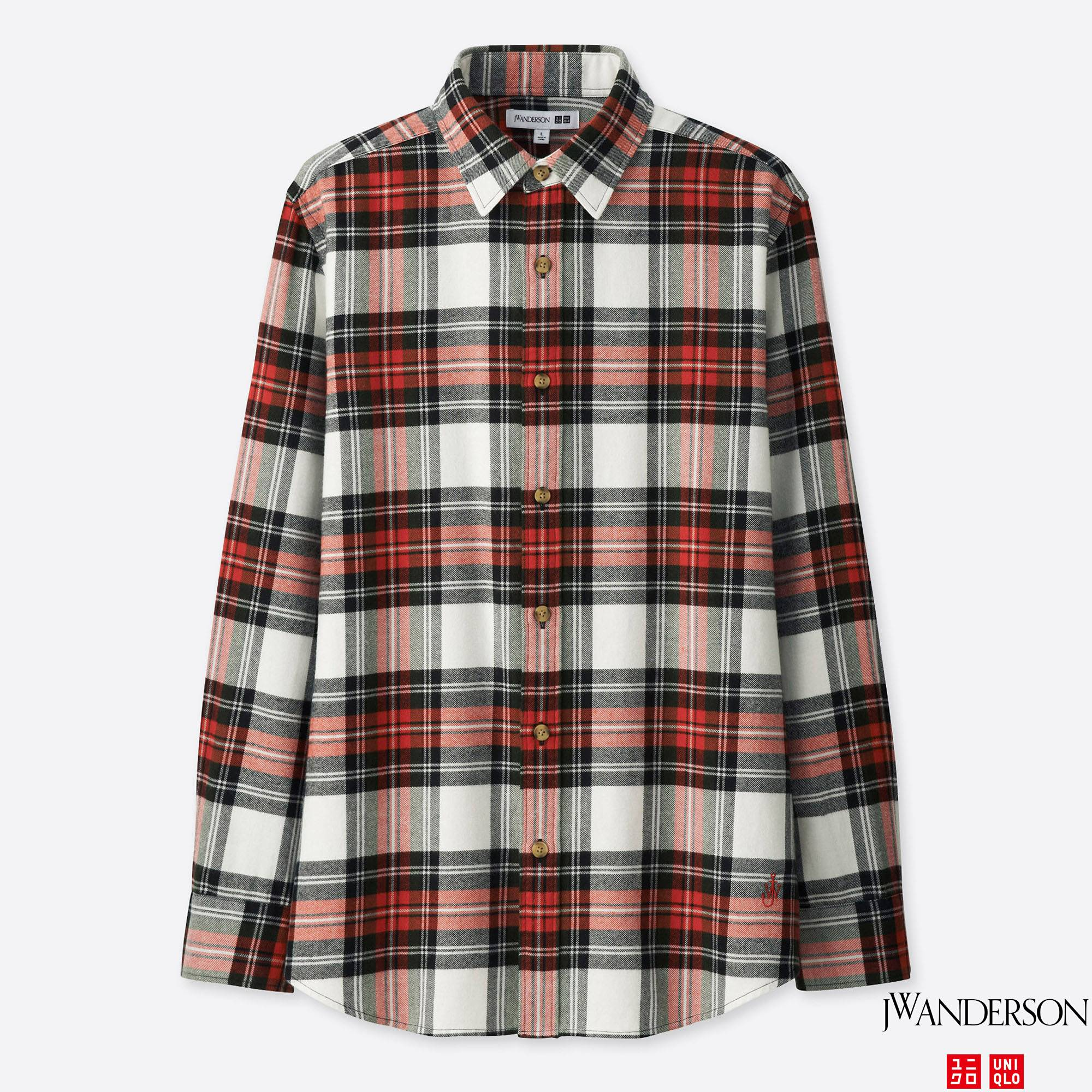 MEN JWA FLANNEL CHECKED LONG-SLEEVE SHIRT | UNIQLO US