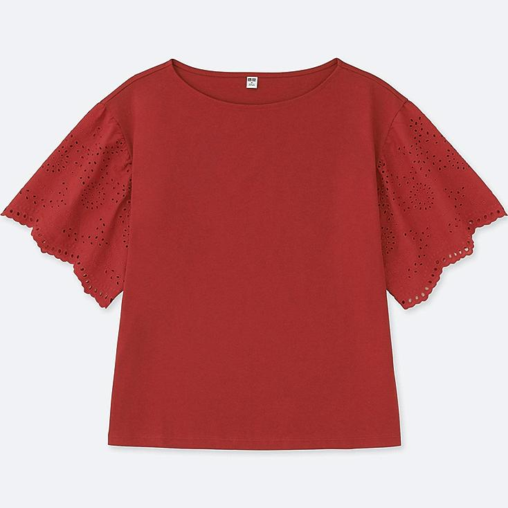 WOMEN LACE HALF-SLEEVE T-SHIRT | Tuggl