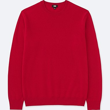 MEN CASHMERE CREW NECK LONG SLEEVED JUMPER
