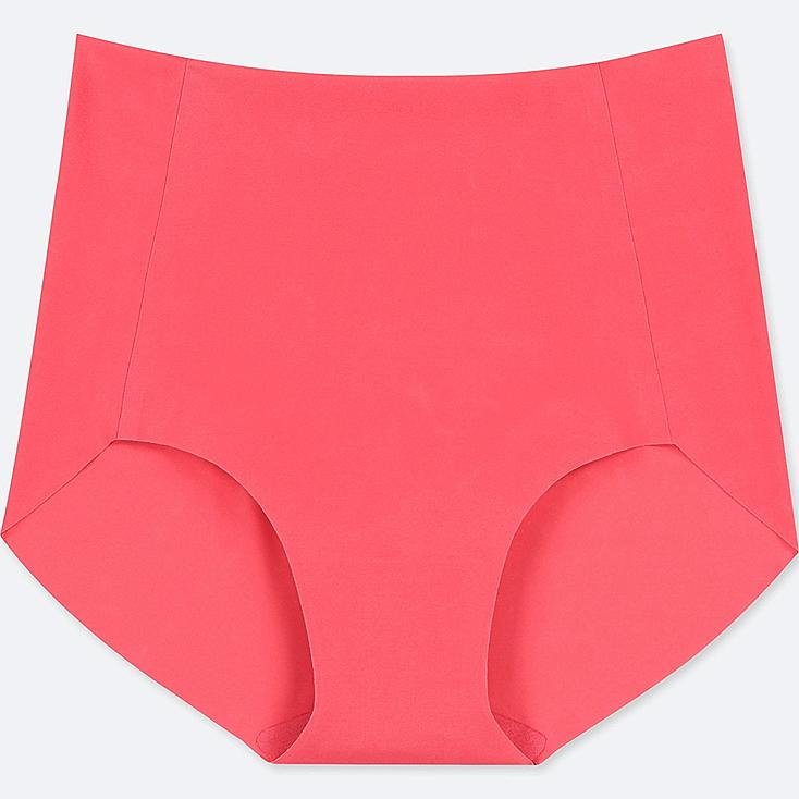 WOMEN AIRism ULTRA SEAMLESS HIGH-RISE BRIEF SHORTS, RED, large