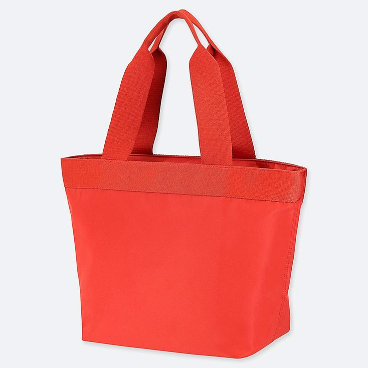 NYLON TOTE BAG, RED, large
