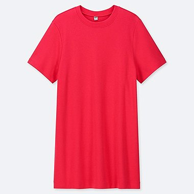 WOMEN BOYFRIEND SHORT-SLEEVE TUNIC (ONLINE EXCLUSIVE), RED, medium