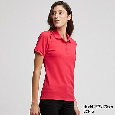 WOMEN STRETCH PIQUE SHORT SLEEVED POLO SHIRT