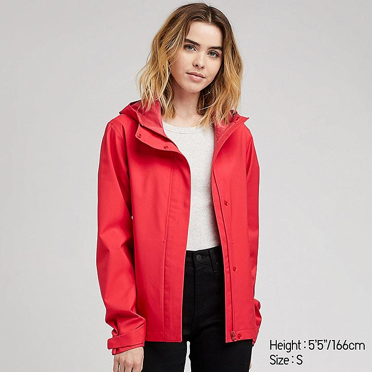 WOMEN BLOCKTECH PARKA, RED, large
