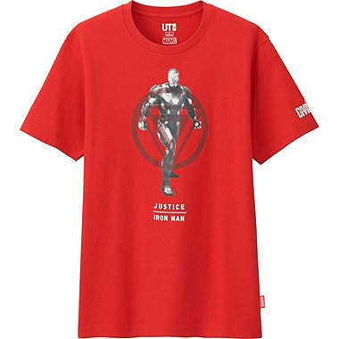 Mens Marvel Graphic Tee, RED, medium