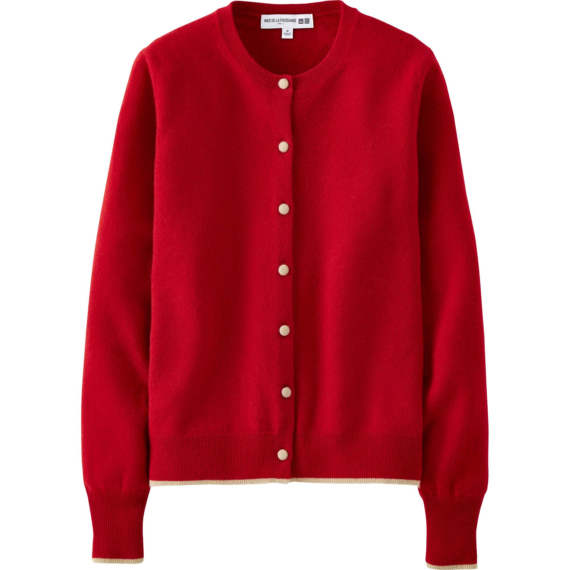 WOMEN IDLF CASHMERE CREW NECK CARDIGAN | UNIQLO US