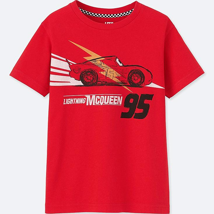 KIDS CARS 3 SHORT-SLEEVE GRAPHIC T-SHIRT, RED, large
