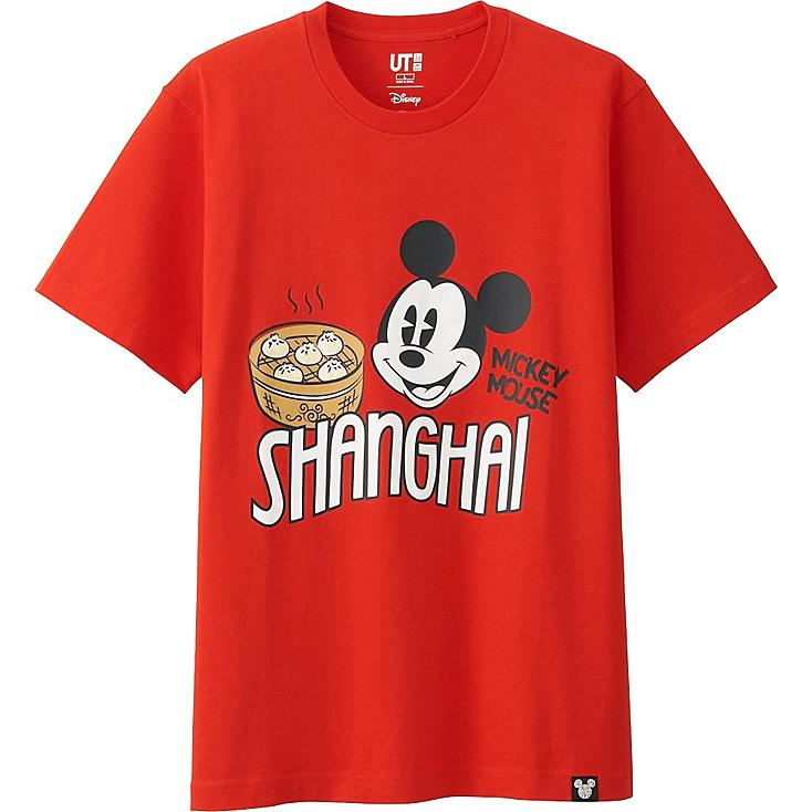 MEN DISNEY COLLECTION CITY LOGO GRAPHIC T-SHIRT, RED, large