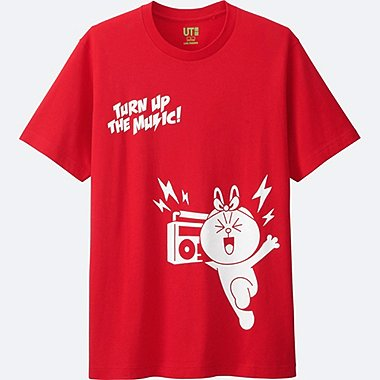 MEN LINE FRIENDS SHORT-SLEEVE GRAPHIC T-SHIRT, RED, medium