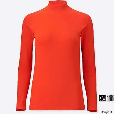WOMEN U Seamless High Neck Long Sleeve Rash Guard