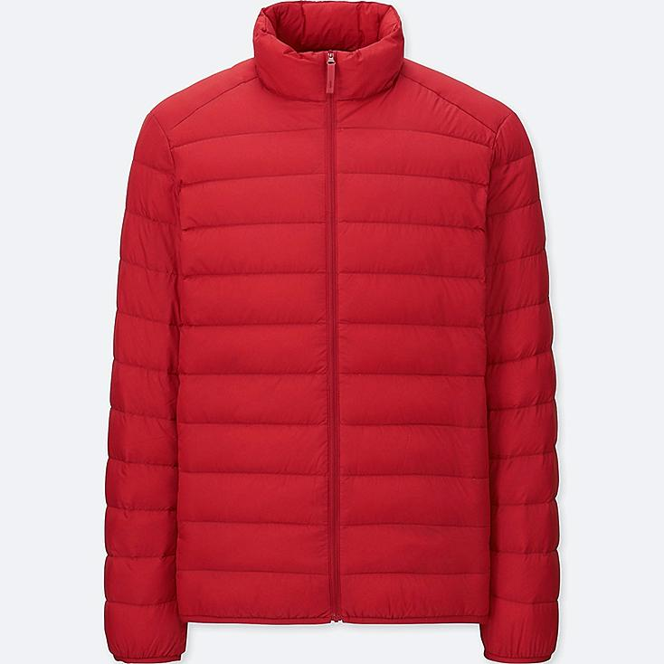 Men Ultra Light Down Jacket, RED, large