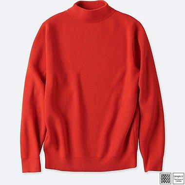 MEN U MERINO-BLEND HIGH NECK LONG-SLEEVE SWEATER, RED, medium