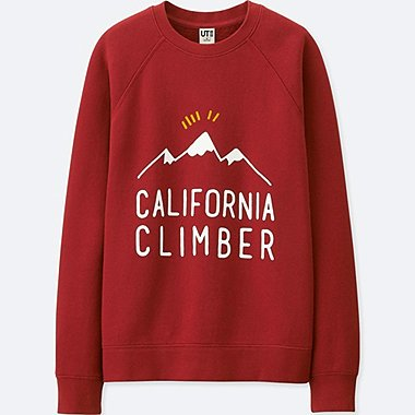 WOMEN CALIFORNIA MEMORIES LONG-SLEEVE SWEATSHIRT, RED, medium
