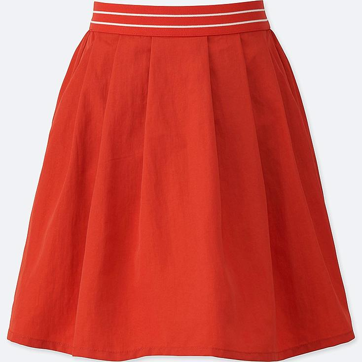 GIRLS COLOR TUCK SKIRT, RED, large
