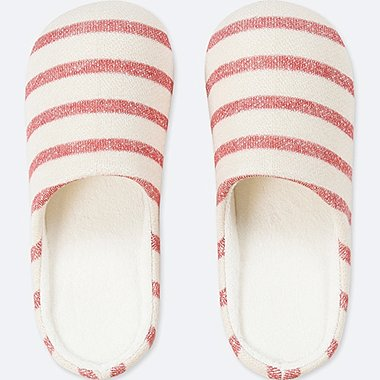 PATTERNED SLIPPERS, RED, medium