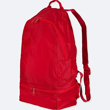 POCKETABLE BACKPACK BAG, RED, medium