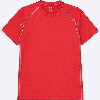 MEN DRY-EX CREWNECK SHORT-SLEEVE T-SHIRT, RED, medium