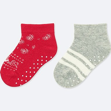 BABY SHORT SOCKS (SET OF 2), RED, medium