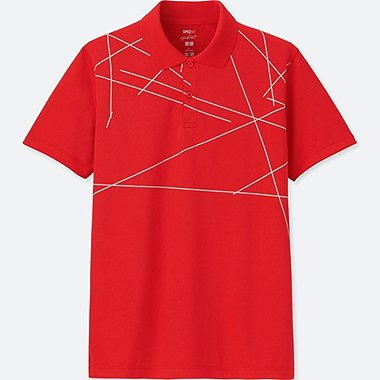 MEN SPRZ NY DRY-EX SHORT-SLEEVE POLO SHIRT (FRANCOIS MORELLET), RED, medium