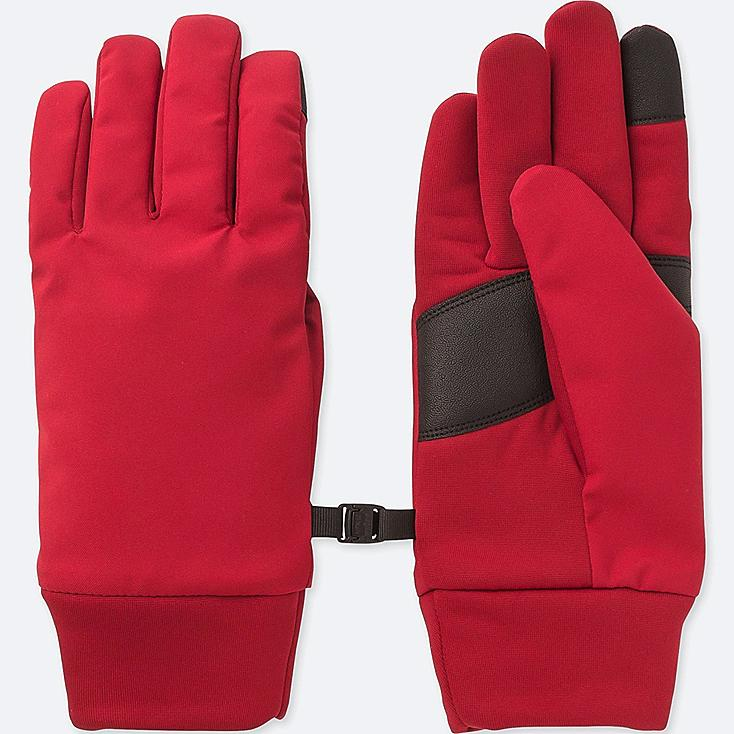 WOMEN HEATTECH FUNCTION GLOVES, RED, large