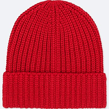 HEATTECH KNITTED CAP, RED, medium