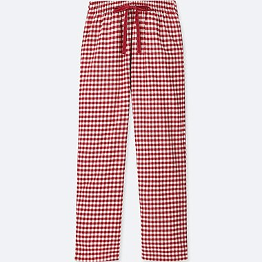 WOMEN FLANNEL CHECKED LOUNGE TROUSERS
