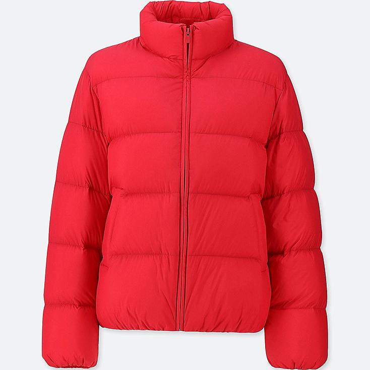 WOMEN ULTRA LIGHT DOWN VOLUME JACKET, RED, large
