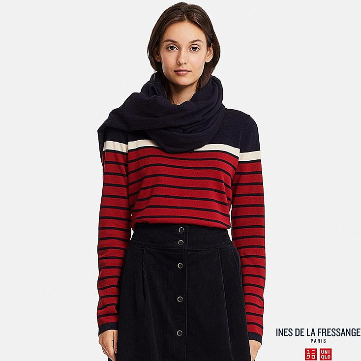 WOMEN INES EXTRA FINE MERINO STRIPED SWEATER