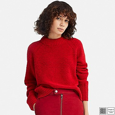 WOMEN UNIQLO U BOUCLE CREW NECK SWEATER