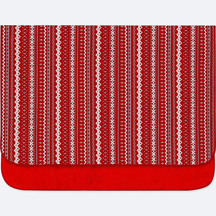 FLEECE FAIR ISLE LARGE BLANKET, RED, large