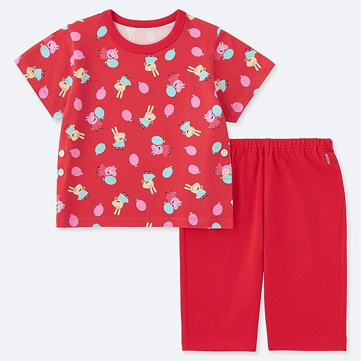 TODDLER PEPPA PIG DRY SHORT-SLEEVE PAJAMAS, RED, large