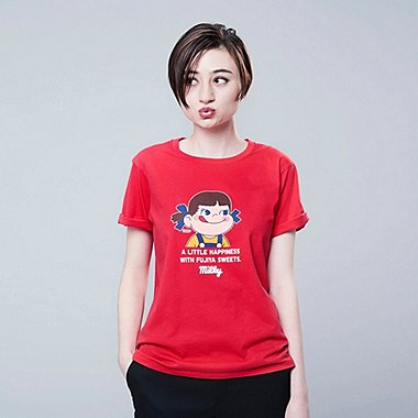 WOMEN THE BRANDS OKASHI SHORT-SLEEVE GRAPHIC T-SHIRT (FUJIYA), RED, medium