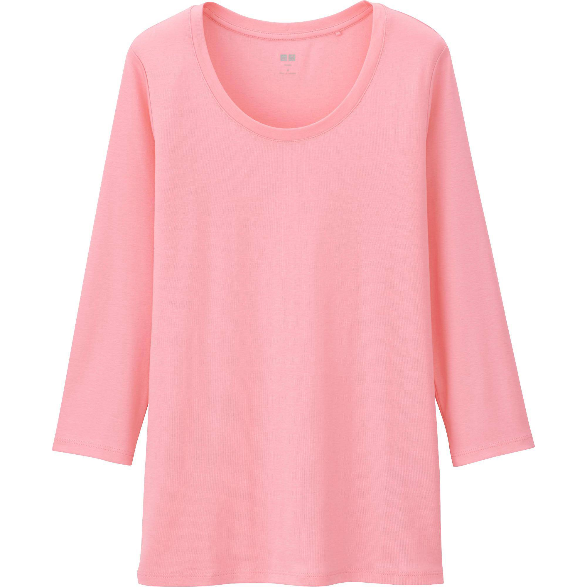 Women's Supima® Cotton 3/4 Sleeve Crew Neck T-Shirt | UNIQLO US