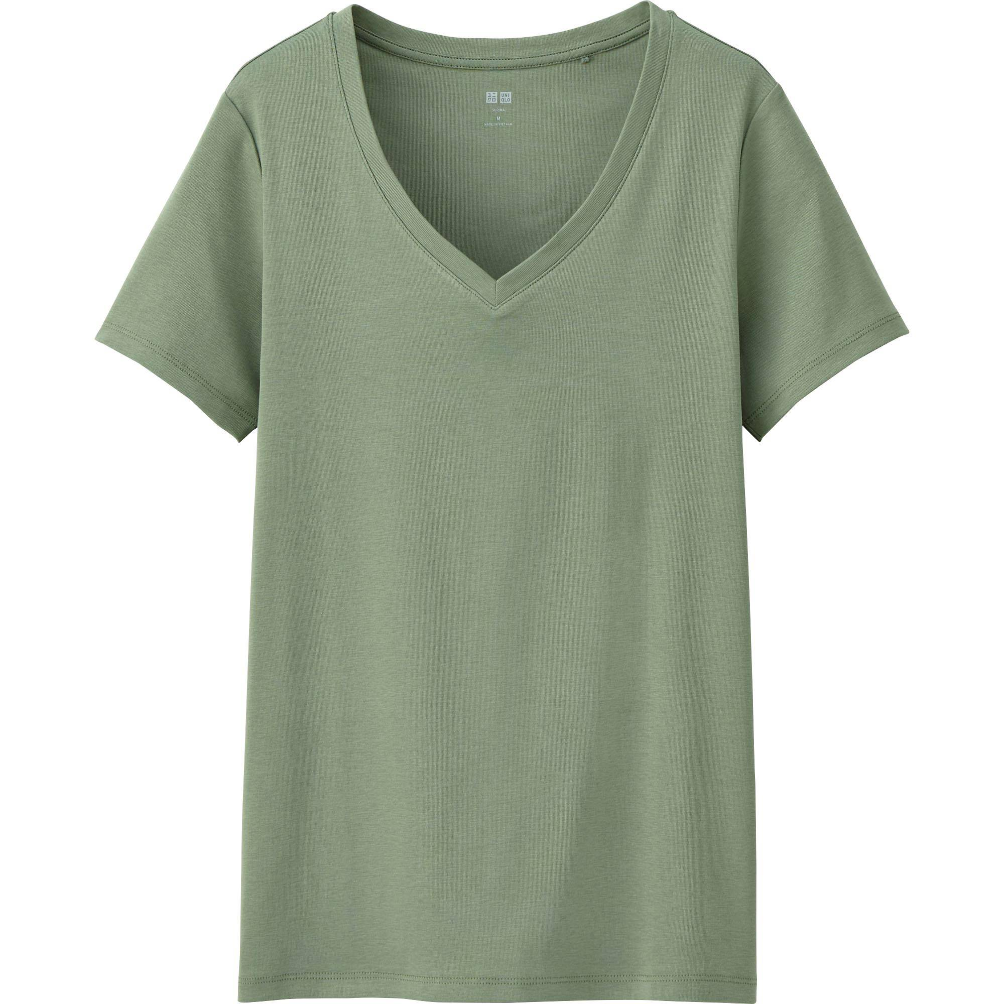 Women's Supima® Cotton V-Neck T-Shirt | UNIQLO US