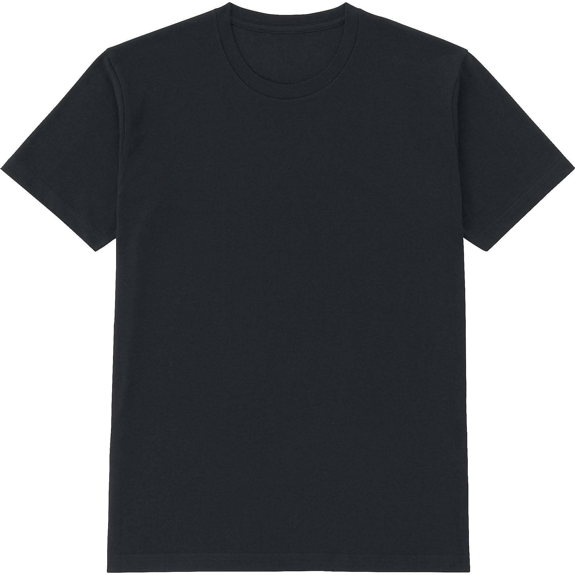 Black Crew Neck T Shirt