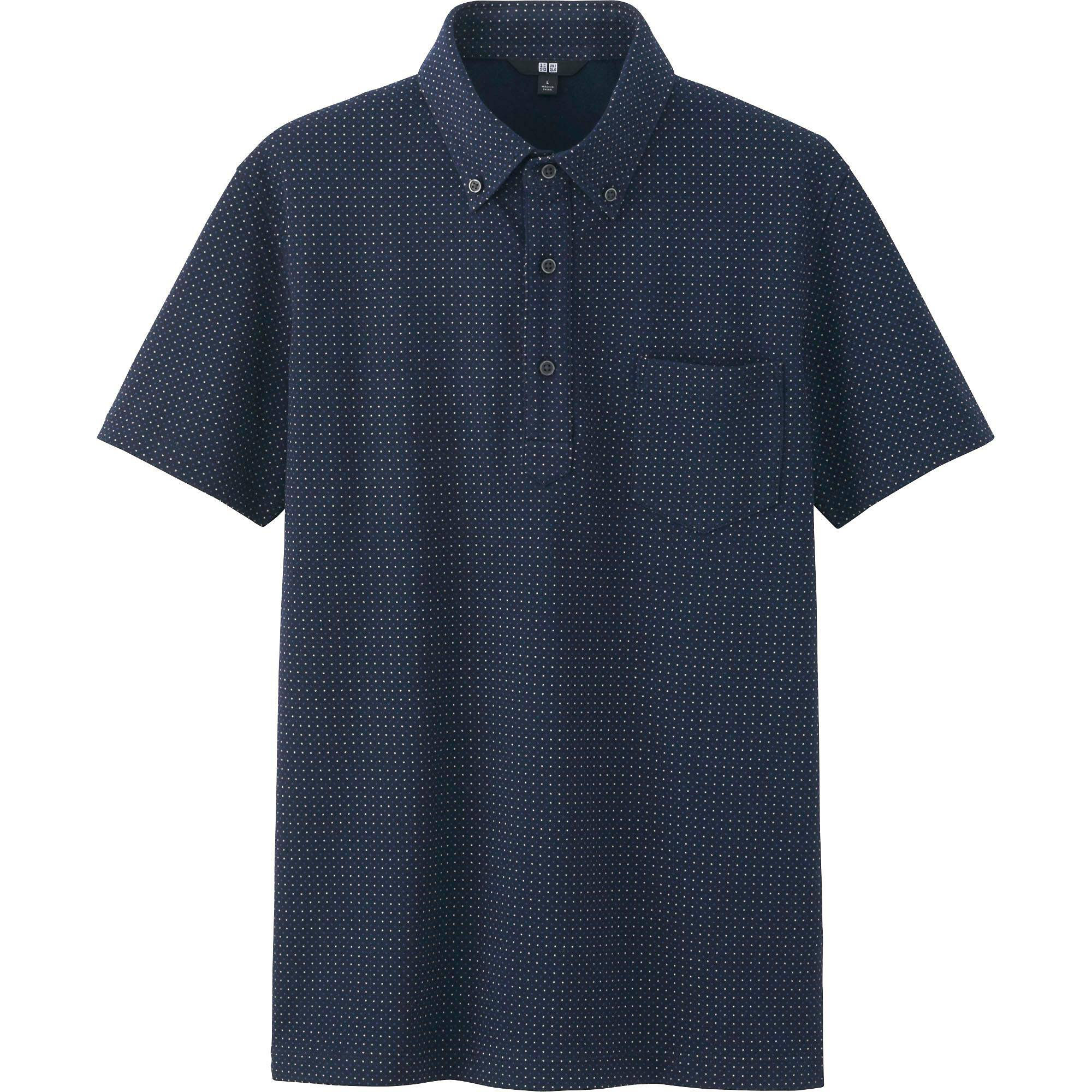 Men DRY COMFORT Button-Down Collar Polo Shirt | UNIQLO US
