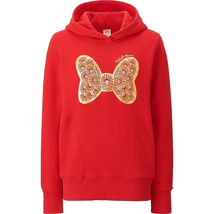 Women Disney Project CNY Graphic Hoodie, RED, large