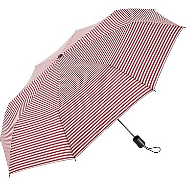 Compact Patterned Umbrella, RED, medium