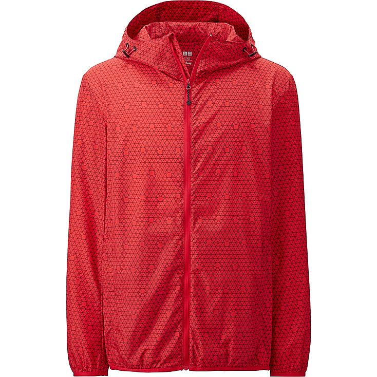 Men Disney Project Packable Hooded Jacket, RED, large