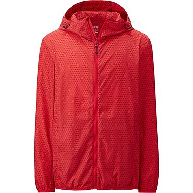 Mens Disney Project Packable Hooded Jacket, RED, medium