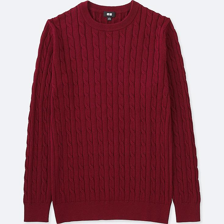 MEN CABLE CREWNECK SWEATER | UNIQLO US
