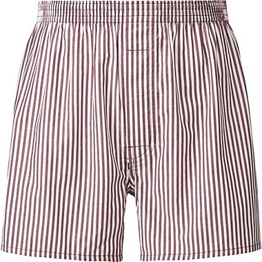 MEN WOVEN STRIPED TRUNKS, RED, medium