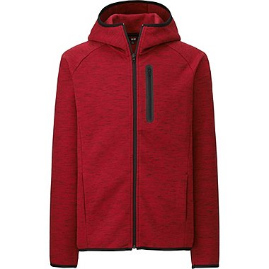 MEN Dry Stretch Long Sleeve Sweat Full-Zip Hoodie