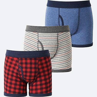 BOYS BOXER BRIEF 3P, RED, medium