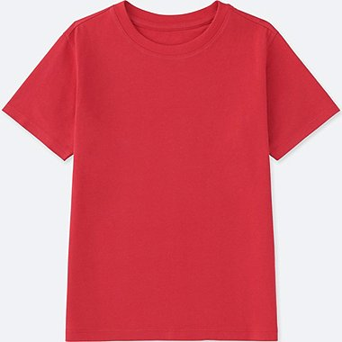 KIDS PACKAGED COLOR CREW NECK SHORT SLEEVE T-SHIRT, RED, medium