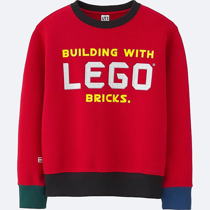 BOYS LEGO® SWEAT LONG SLEEVE PULLOVER, RED, large
