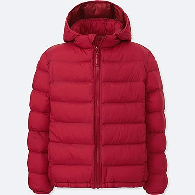 BOYS LIGHT WARM PADDED PARKA, RED, medium