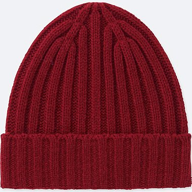 KIDS HEATTECH KNITTED CAP, RED, medium